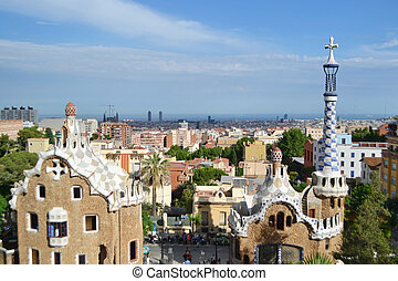 Park Guell - The famous Park Guell in Barcelona, Spain.