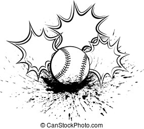 Baseball or Softball Splatter Pow