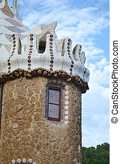 Fragment of fairy tale house in Park Guell