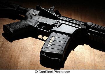 AR-15, (M4A1), carbine, close-up