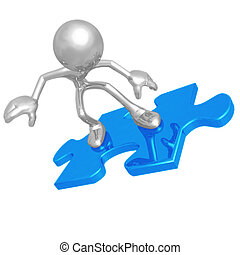 Puzzle Piece Surfing - 3D Concept And Presentation Figure