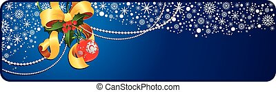 Christmas banner - Holiday banner with copyspace. This image...