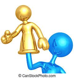 Proxy Handshake - 3D Concept And Presentation Figure