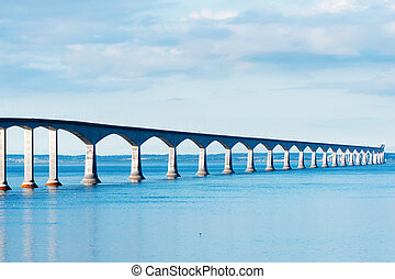 Confederation bridge linking the provinces of NB and PEI