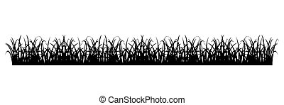 Simple Grass Silhouette - Grass silhouette - Design element...