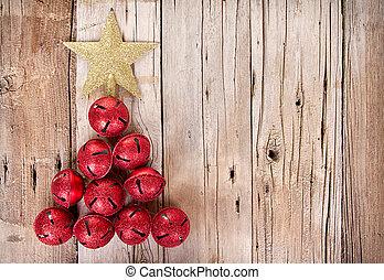 Jingle bells shaped like a Christmas tree - Christmas jingle...
