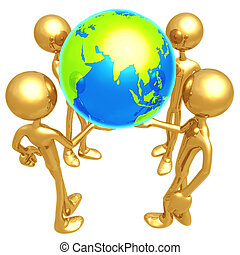 World In Our Hands - 3D Concept And Presentation Figure