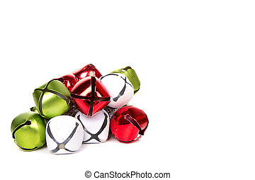 Christmas jingle bells on a white background