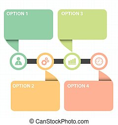 text box with line business strategy diagram - Vector...