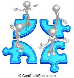 Puzzle Problem - 3D Concept And Presentation Figure