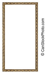 Picture Frame - Gold vintage frame isolated on white...