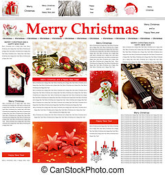 Seamless Christmas newspaper pattern