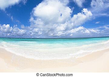 beautiful beach and cloud.maldives