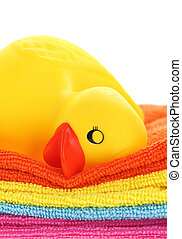 Rubber yellow duck sleeping towels