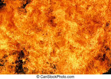 Burning fire - Background burning flame red yellow heat...