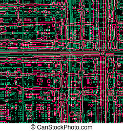 Microcircuit - Computer microcircuit as a technology concept...