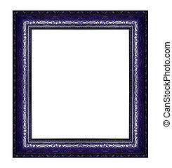 Picture Frame - Ancient wooden frame isolated on white...