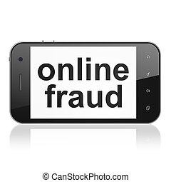 Privacy concept: Online Fraud on smartphone