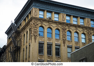 Historic buildings in New York City's Soho District -...