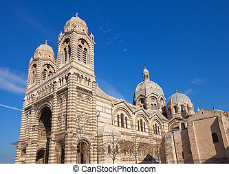 Side view of Marseilles Cathedral (XIX c.) - Side view of...