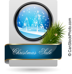 Trendy Christmas Sale Card with embellishment