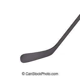 Black ice hockey stick Isolated on a white background
