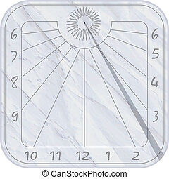 Sundial icon over white background