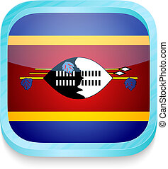 Smart phone button with Swaziland flag