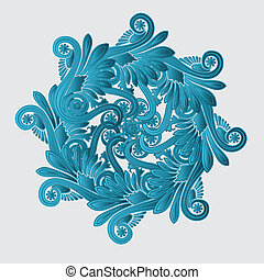 Decorative flourish design