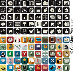 Business, finance flat icons - Business or finance flat...