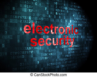 Privacy concept: Electronic Security on digital background