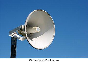 speaker - Loudspeaker against blue sky