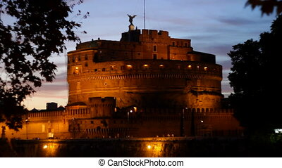 Castel SantAngelo at Dusk - 1 - Castle Saint Angelo in the...