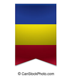 Ribbon banner - andorran flag