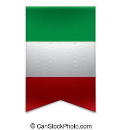 Ribbon banner - italian flag - Realistic vector illustration...
