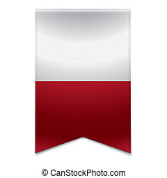 Ribbon banner - maltese flag