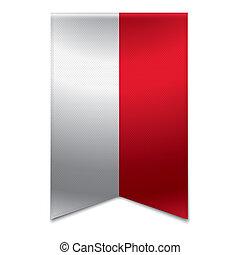 Ribbon banner - monegasque flag