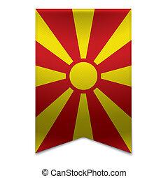 Ribbon banner - macedonian flag