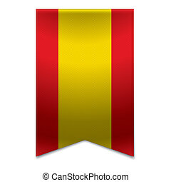 Ribbon banner - spanish flag - Realistic vector illustration...