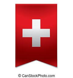 Fita, bandeira, -, Suíço, bandeira