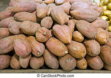 Batata in food store - Batata on a stall in food store