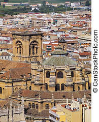 Cathedral in Granada, Spain - Cathedral in Granada - famous...