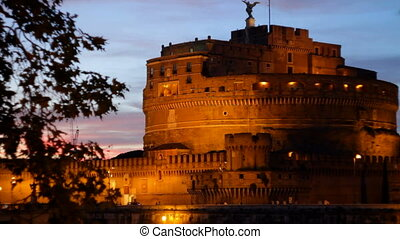 Castel SantAngelo at Dusk - Castle Saint Angelo in the early...