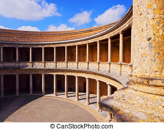 The Palace of Charles V in Granada