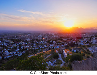 Sunset in Granada, Spain - Sunset in Granada- city in...