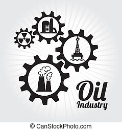 oil industry over white background vector illustration