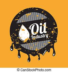 oil industry over orange background vector illustration