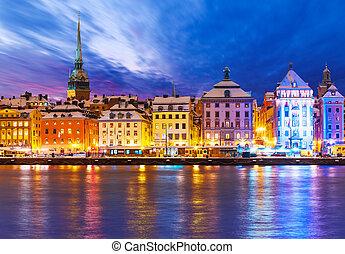 nuevo, Suecia, Estocolmo, navidad, año