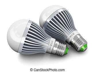 conduzido, lâmpadas