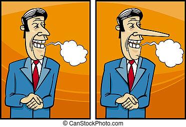 insincere politician cartoon illustration